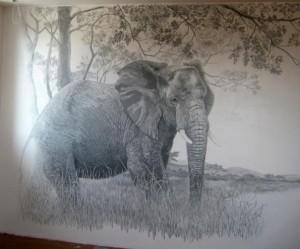 Уникальный рисунок на стены