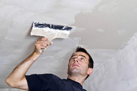 Как зашпаклевать потолок своими руками фото