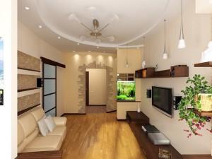 Дизайнерские варианты как визуально увеличить высоту потолка